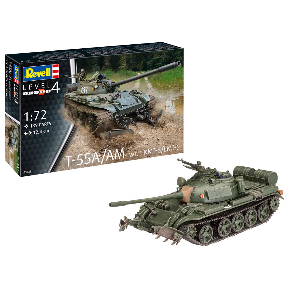 REVELL T-55A/AM WITH KMT-6/EMT-5 1:72 03328