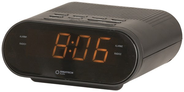 LED Clock with AM/FM Radio