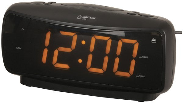 Large Display LED Clock Radio with AM/FM Radio