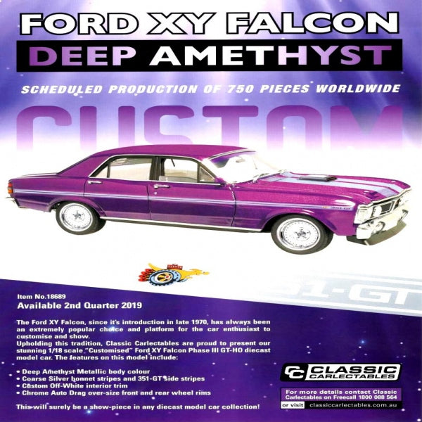 Classic Carlectable Ford XY Falcon Deep Amethyst 1:18 scale Diecast