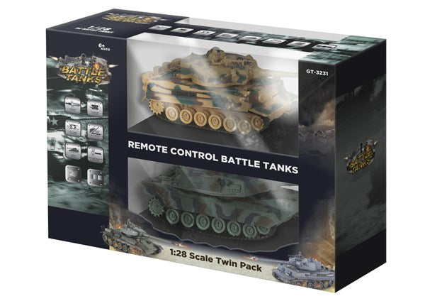 GT3231 R/C Battle Tanks - Twin Pack