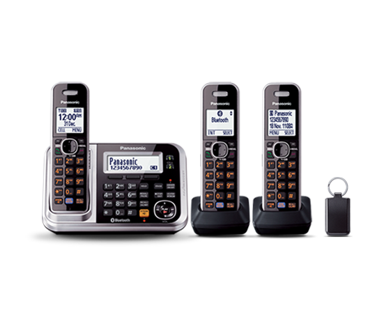Panasonic KXTG7893 3 Hand Set Cordless Phone