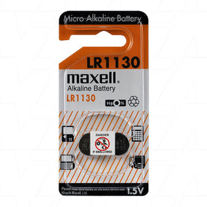 Maxell LR1130 LR54 Alkaline 1.5V Button Battery 2Pack