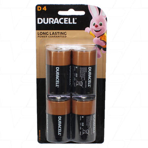 Duracell Coppertop D 1.5V Alkaline Battery 4 Pack