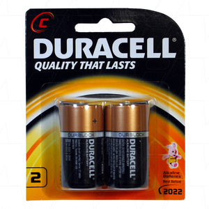 Duracell Coppertop C 1.5V Alkaline Battery 2 Pack