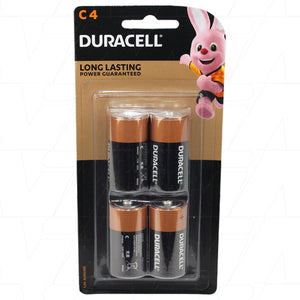 Duracell Coppertop C 1.5V Alkaline Battery 4 Pack