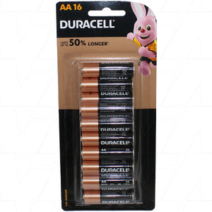 Duracell Coppertop AA 1.5V Alkaline Battery 16 Pack