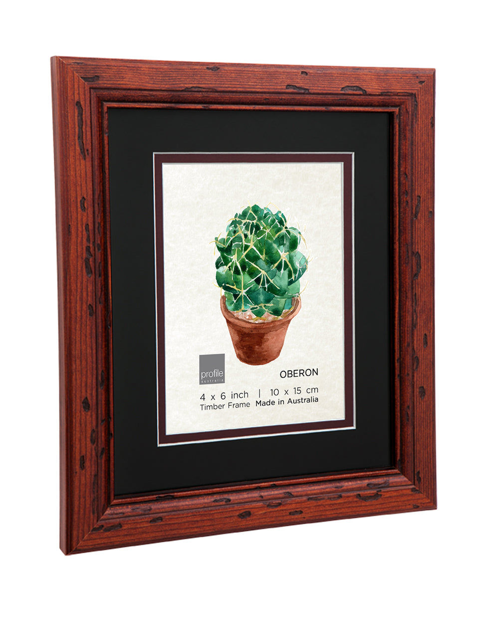 Oberon Mahogany Double matted Photo Frame