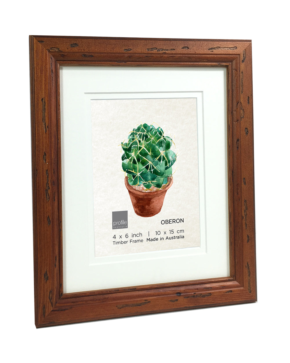 Oberon Walnut Double matted Timber Photo Frame