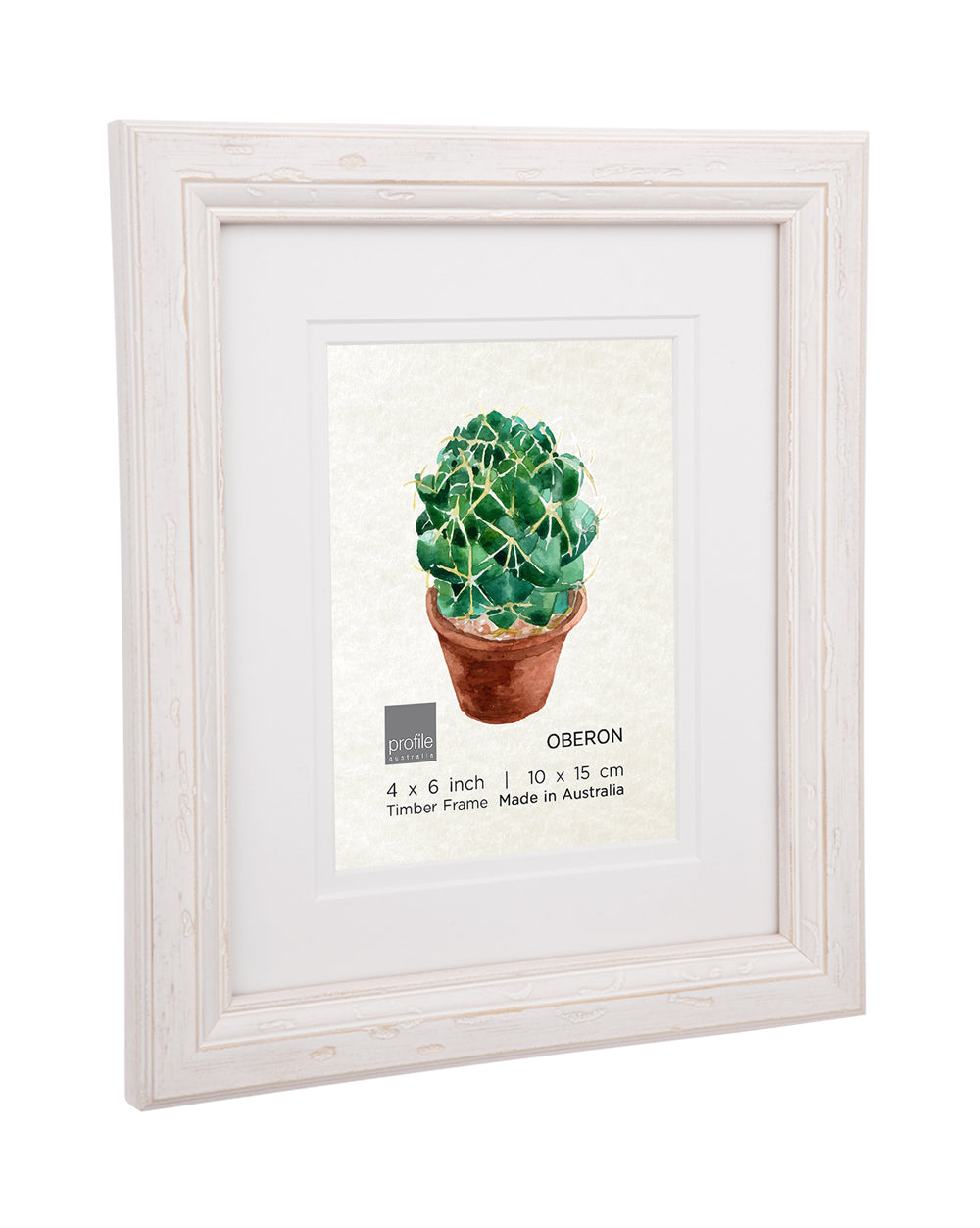 Oberon White Double matted Timber Photo Frame