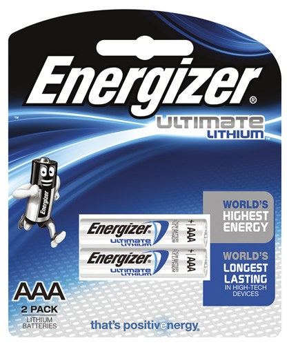 Energizer AAA Lithium Battery 2 Pack