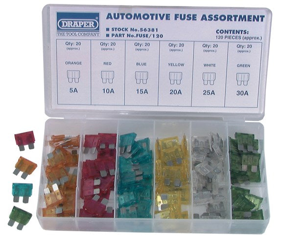 Automotive Fuse Assortment 120 Pack