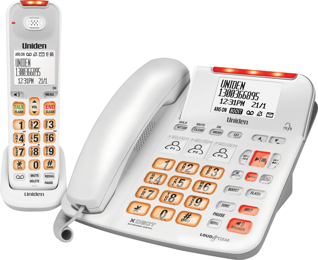 Uniden SSE47+1 Hearing Impaired Cordless Telephone