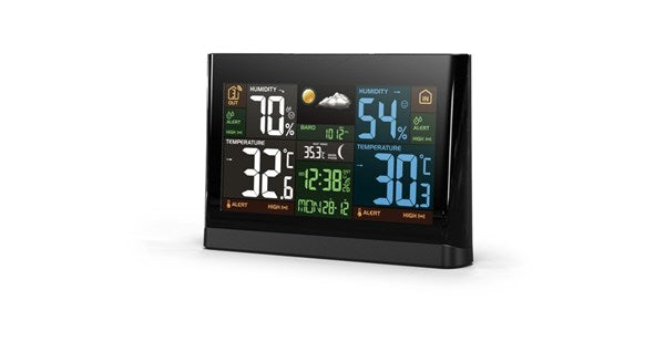 Temperature and Humidity Weather Station with Colour Display