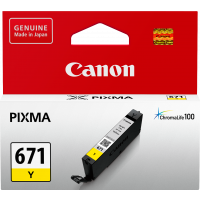 Canon CLI671Y Yellow Ink Cartridge
