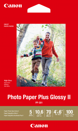 "Canon Photo Paper Plus Glossy II 4""x6"" (100 Sheets)"