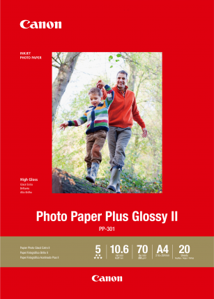 Canon Photo Paper Plus Glossy II A4 (20 Sheets)