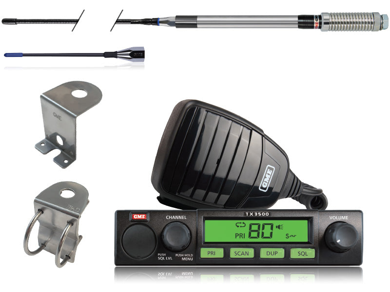 GME TX3500S Value Pack 5 Watt Super Compact UHF CB Radio