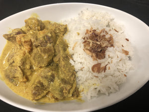 Yellow Beef Curry with Sweet potatoes