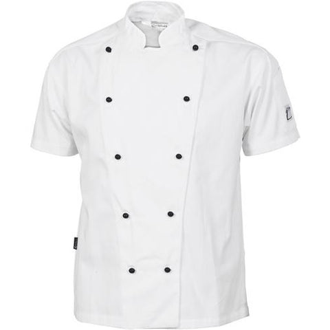 Cool-Breeze Cotton Chef Jacket - Short Sleeve