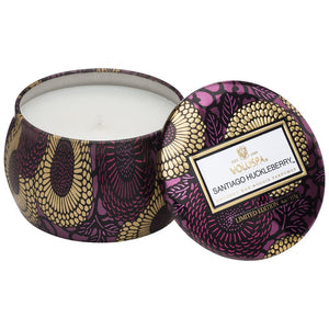 Voluspa 1 Wick Candle - 25t Santiago Huckleberry