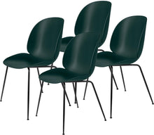 Last inn bildet i Galleri-visningsprogrammet, Gubi 4 x Beetle Dining Chair - Black base Dark Green
