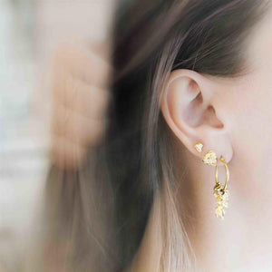 Hasla Grit Erosion Mini Earrings Gold