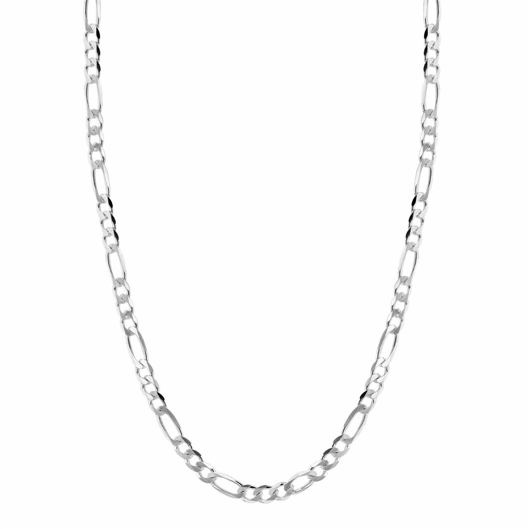 Hasla Space Flat Figaro Necklace 3,15mm 925s Silver