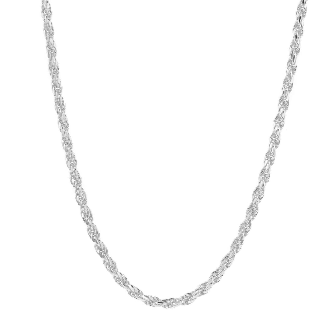 Hasla Rocks Rope Necklace Silver