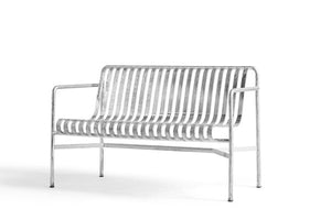 Hay Palissade Dining Bench - Hot Galvanised Sølv