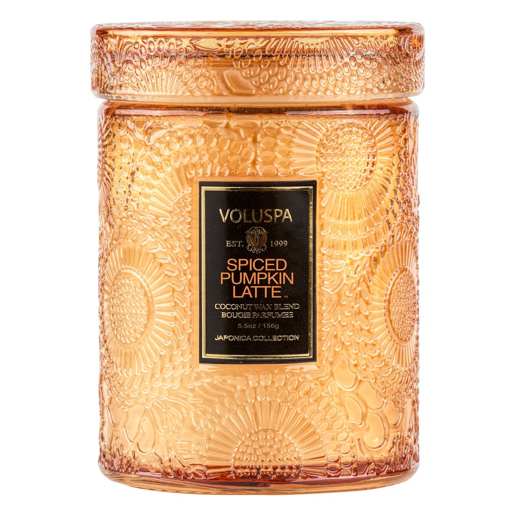 Voluspa SPICED PUMPKIN LATTE SMALL JAR CANDLE 50 Timer