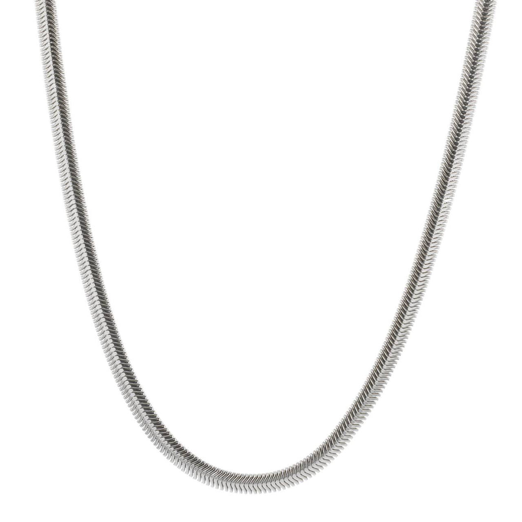 Hasla Rocks Snake Necklace Silver