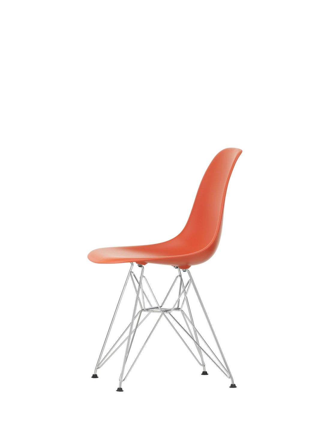 Vitra Eames - DSR - Chrome Base Poppy Red