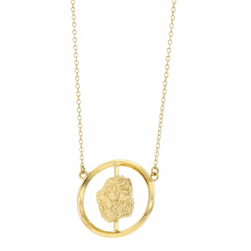 Hasla Grit Erosion Circle Necklace Gold
