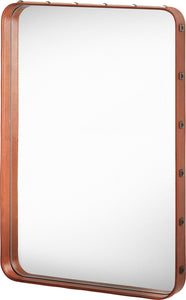 Gubi Adnet Rectangulaire Wall Mirror 70x50 Tan