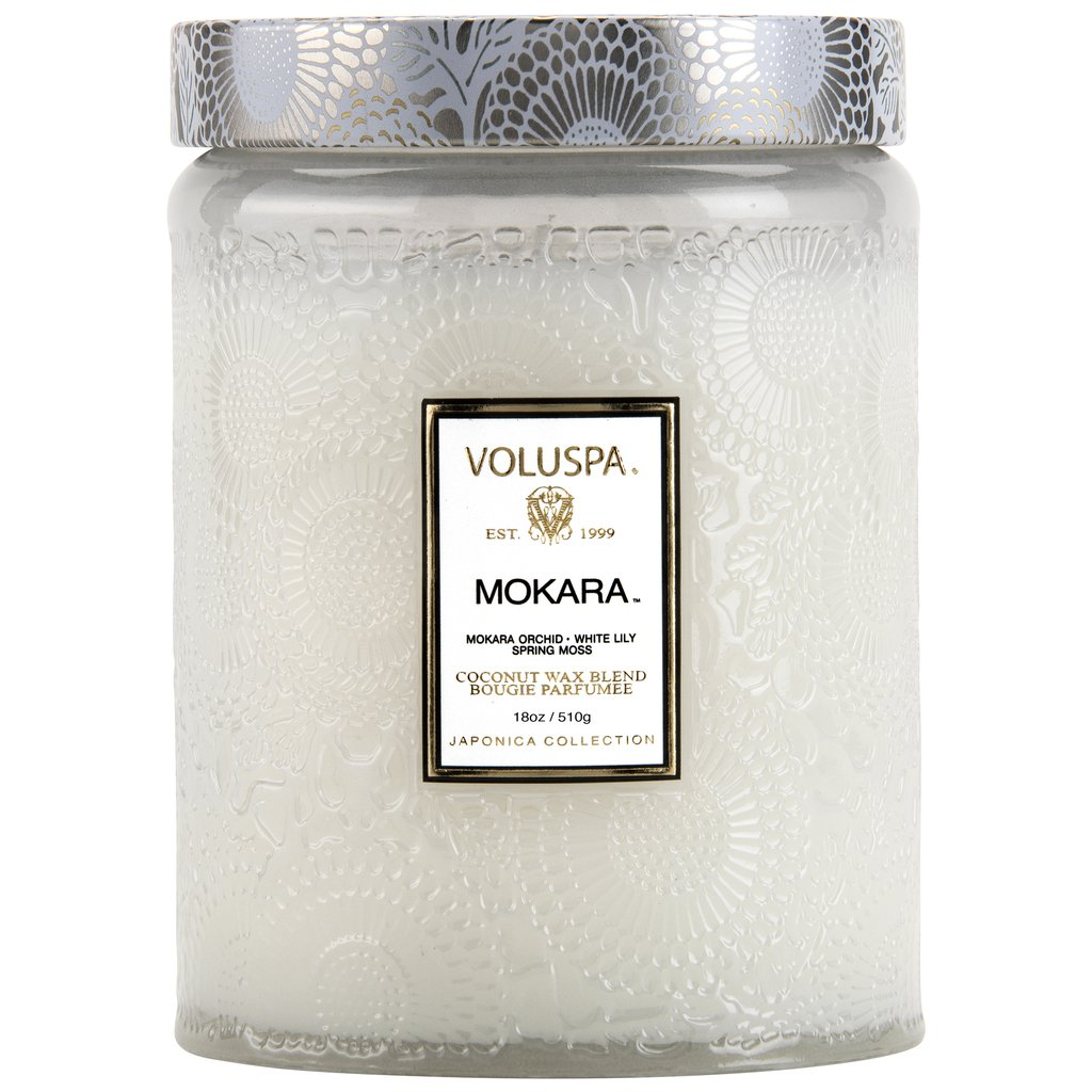 Voluspa Glass Jar Candle 100t Mokara