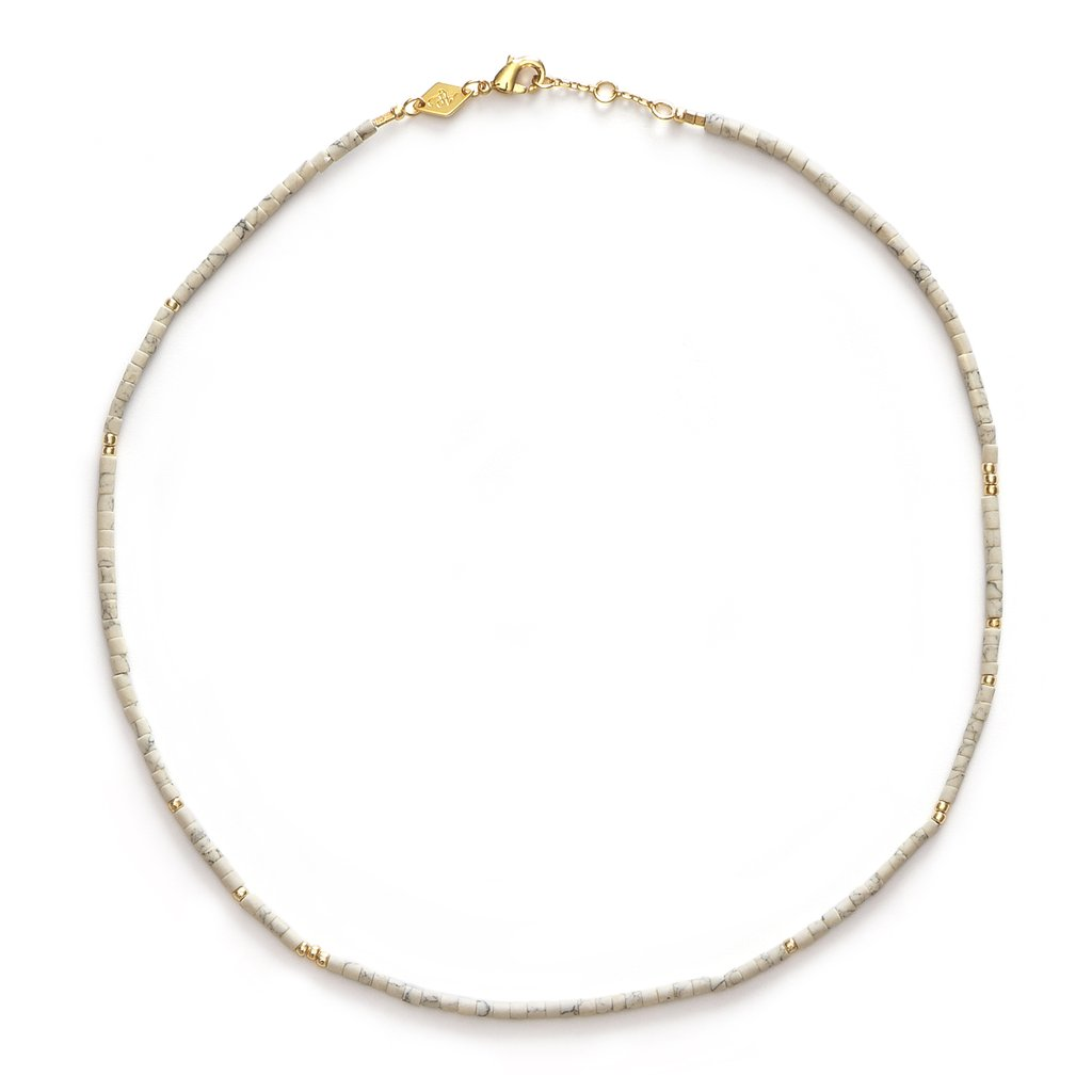 Anni Lu Sun Stalker Necklace Cream