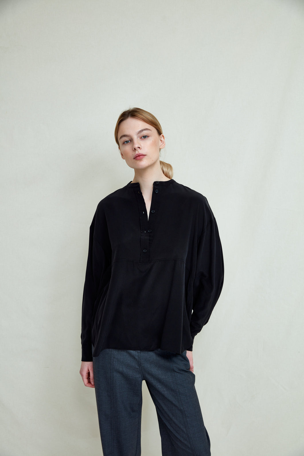 FWSS Your Woman Bluse Anthracite Black