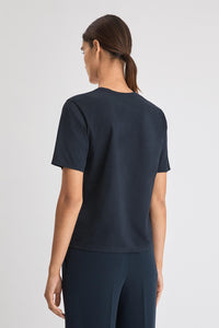 Filippa K Annie Cotton T-Shirt - Navy Navy