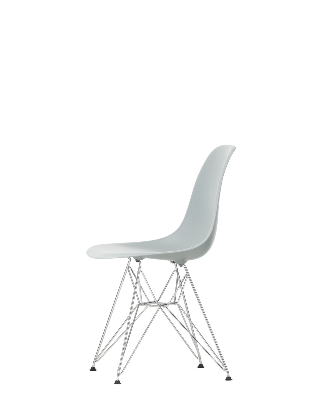 Vitra Eames - DSR - Chrome Base Light Grey