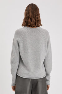 Filippa K Dahlia Sweater New Light Grey Melange