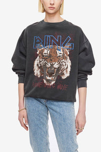 Anine Bing Tiger Sweatshirt Black
