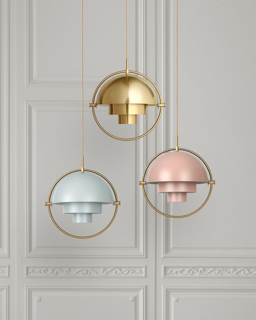 Gubi Multi-Lite Pendant All Brass