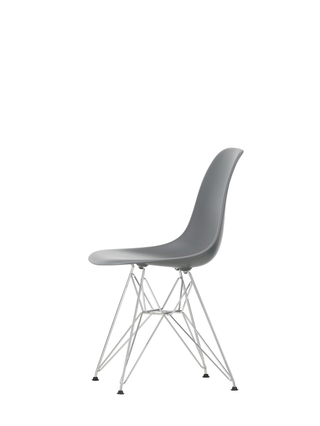 Vitra Eames - DSR - Chrome Base Granite Grey