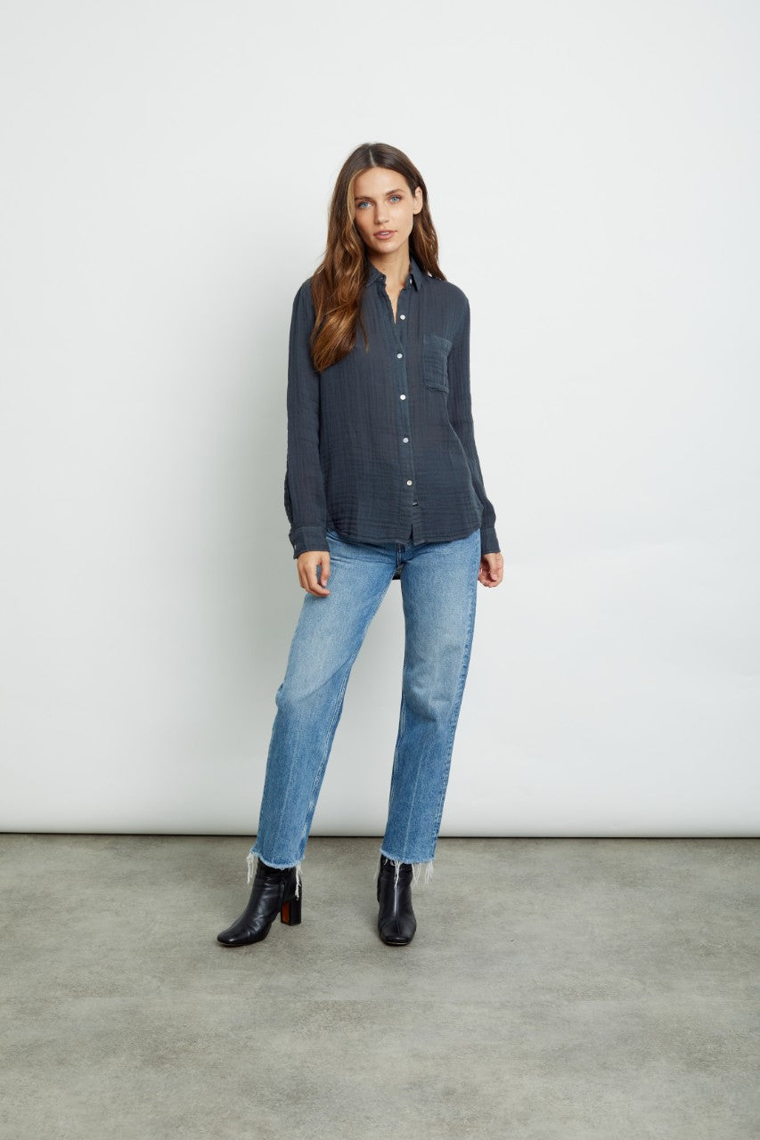 Rails Ellis Shirt Washed Black