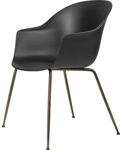 Gubi Bat Dining Chair - Conic Base Brass/Black