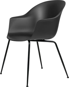 Gubi Bat Dining Chair - Conic Base Black Matt/Black