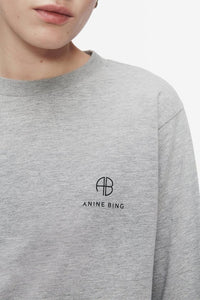 Anine Bing  Willow Tee Heather Grey