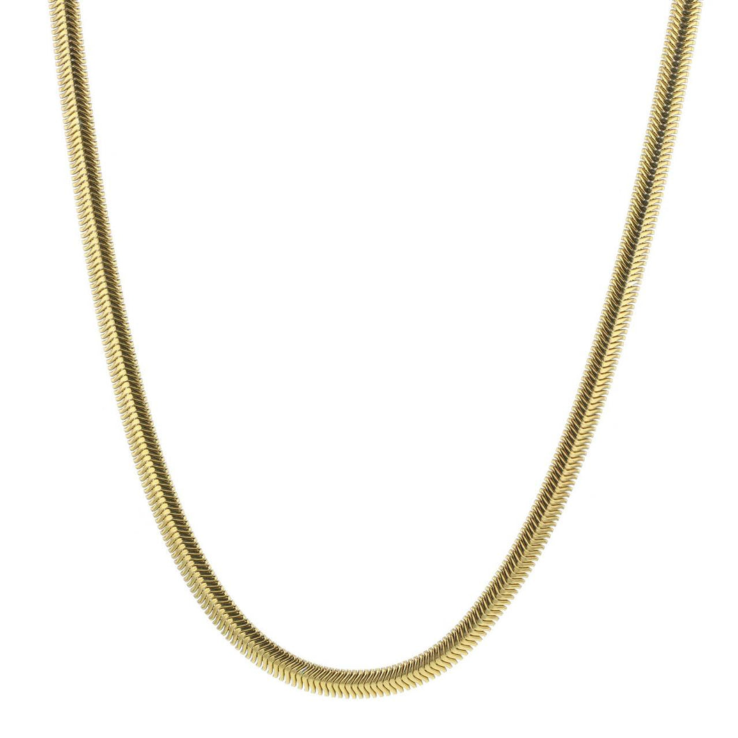 Hasla Rocks Snake Necklace Gold