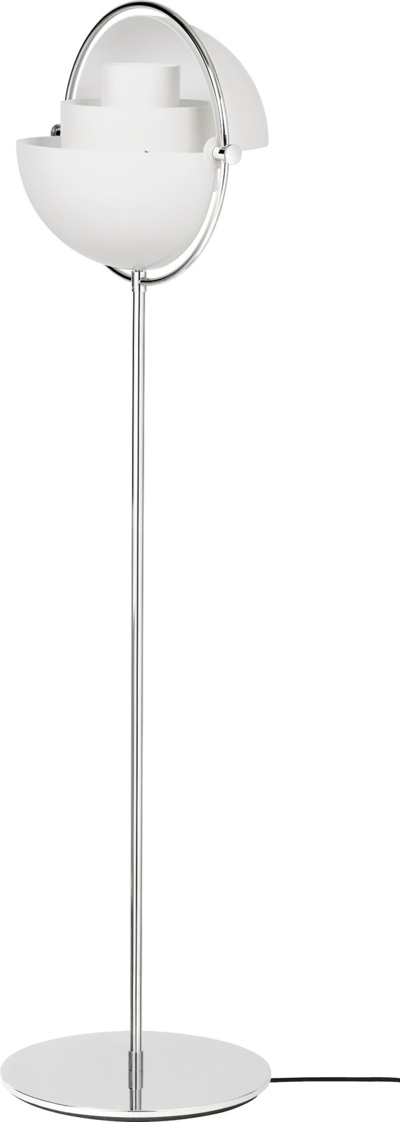 Gubi Multi-Lite Floor Lamp Chrome/White